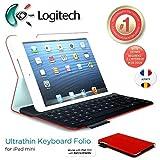 Logitech Ultrathin et protection Folio Clavier Case avec Auto Wake / sommeil pour iPad Mini 1, 2, 3 - Francais AZERTY Layout -...
