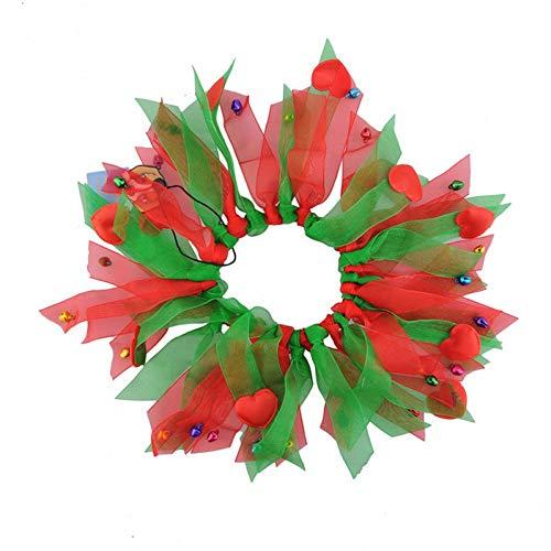 chongwan kerst huisdier hond kraag halloween kleurrijke linten hals honden kerstkraag met kleine bel festival cosplay pak huisdieren