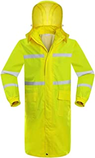 BGROESTWB Snow Rainwear Outdoor Long Raincoat Adult Unisex Windproof Raincoat Reflective Fluorescent Yellow Raincoat Multi...