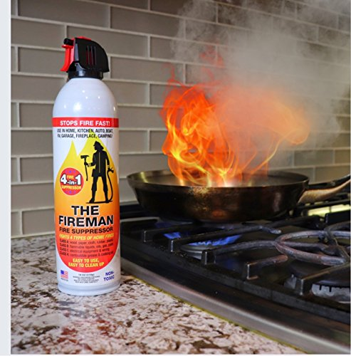 The Fireman Multi-Purpose Fire Extinguishing Suppressant Spray - 18 oz (1 Pack)