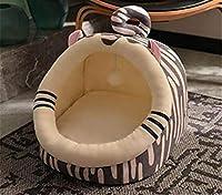 猫のベッド 猫の家 ペット用寝袋 おしゃれ 可愛い ふわふわ 暖かい 柔らかい 小型犬 多機能 冬用 洗える ウサギ形 M ドーム型 洗える 猫用ベッド 猫犬小動物用 室内用 厚み 冬寒さ対策 L 虎形