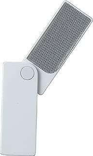 日本シール エチケットブラシ ホワイト 10.5×4×6.5cm 【携帯に便利・スライド収納タイプ】 ミラー付き GH-02