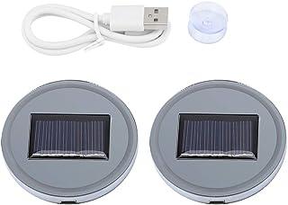idalinya 2pcs Solar LED Cup Pad Halter RGB 7 Farben Lichter USB Car Bottle Bottom Mat