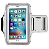 Universal Water Resistant Sports Armband,iBarbe,case Bundle with Screen Protector for iPhone 8/7/6/6S Plus,LG G6 G5,Galaxy s8,s8 Plus s7 s6 Edge,Note 5 Sport Exercise Running Pouch Key Holder (Gray)