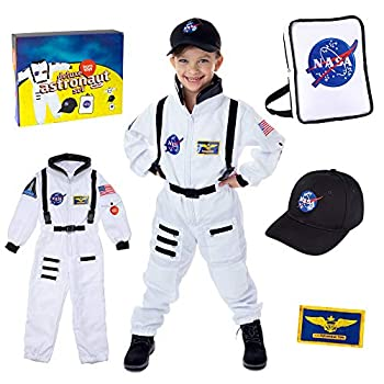 Born Toys Astronaut Costume for Kids & Space Toys Includes Kids Space Suit Kids NASA Hat NASA Backpack - Toddler Dress Up & Pretend Play for Ages 3-7 Perfect Kids Astronaut Costumes for Boys & Girls