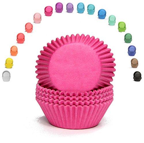 Miss Bakery's House® Papierbackförmchen - Standard - Pink - 75 Stück - zum Mitbacken im Ofen