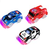 PROACC Track Cars, 3 Pack Race Cars Autorennbahn Spielzeug Auto, 5 LED Blinklichtern Magic Toys, Childs Geschenke (Track Cars)