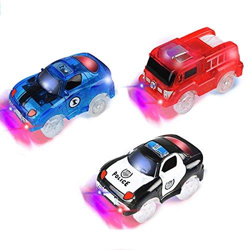 PROACC Track Cars, 3 Pack Race Cars Autorennbahn Spielzeug Auto, 5 LED Blinklichtern Magic Toys, Childs Geschenke (Track Cars)