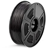 SUNLU ABS 3D Printer Filament, 1.75 ABS Filament Dimensional Accuracy +/- 0.02 mm, 1 kg Spool, 1.75mm, ABS Black