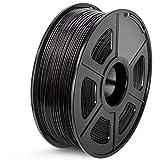 SUNLU ABS 3D Printer Filament, 1.75 ABS Filament Dimensional Accuracy +/- 0.02 mm, 1 kg Spool (Black, 1KG)