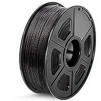 SUNLU ABS 3Dプリンターフィラメント、ABSフィラメント1.75 mm、3D印刷フィラメント3Dプリンターと3Dペン用の低臭気寸法精度+/- 0.02 mm、2.2 LBS(1KG)スプール3Dフィラメント、ブラックABS