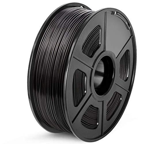 SUNLU ABS 3D Printer Filament 1.75mm With Dimensional Accuracy +/- 0.02 mm, 1 kg Spool (Black, 1KG)