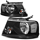Best Headlights - DNA Motoring HL-OH-F1504-BK-CL1 Black Housing Headlights Replacement For Review