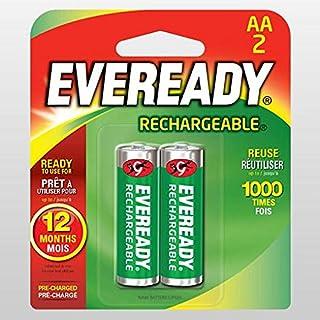 Eveready 2 AA Rechargable 1300 Mah Batteries
