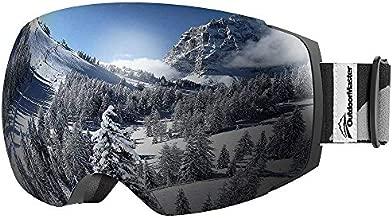 OutdoorMaster Ski Goggles PRO - Frameless, Interchangeable Lens 100% UV400 Protection Snow Goggles for Men & Women (VLT 10% Grey Lens Free Protective Case)