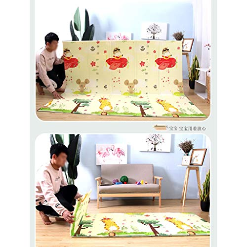 GaoYunQin Baby Folding Play Mat, Waterproof Xpe Soft Foam Double-sided Thickening Children Crawling Mat, Home Yoga Fitness Mat (Size : 200 * 180 * 1.5cm)
