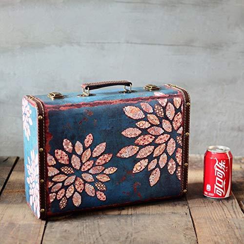 Retro-Koffer Retro Reise-Koffer-Weinlese-große Reise-Koffer aus Leder Home Decor Parteien Hochzeit Dekoration Displays Crafts (Farbe : Bronze, Größe :...