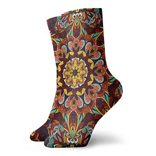 Tapete im Barock-Stil, weiche Socken, schnelltrocknend, atmungsaktiv, feuchtigkeitstransportierende Sportsocken, Crew-Socken, 30 cm