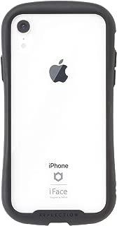 iFace Reflection iPhone XR ケース クリア 強化ガラス [ブラック]