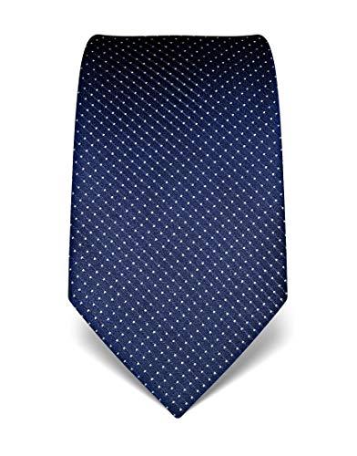 Vincenzo Boretti cravatta elegante classica da uomo, 8 cm x 15 cm, di pura seta di alta...