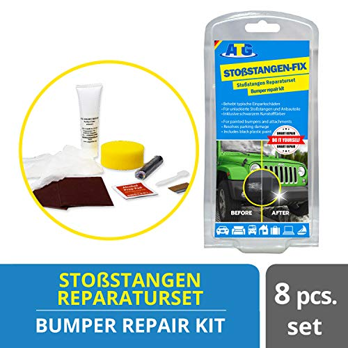 ATG Do it Yourself Kunststoffreparatur Set I 10 teiliges Stossstangen Reparaturset I Kratzerentferner Aufbereitungsset I Auto Instandhaltung Kfz Pflege Set I Autoaufbereitung in Profi Qualität