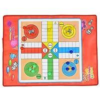 ルドーボードセット、明るい色の摩耗に強い環境にやさしいポータブルルドーゲーム、すべての年齢の子供のための女の子のギフト男の子のギフト