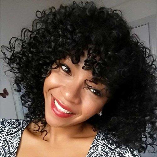 XY-QXZB Parrucche europee e gli Stati Uniti Moda Donne Donne Africa Piccoli rotoli di parrucche di fibre chimiche