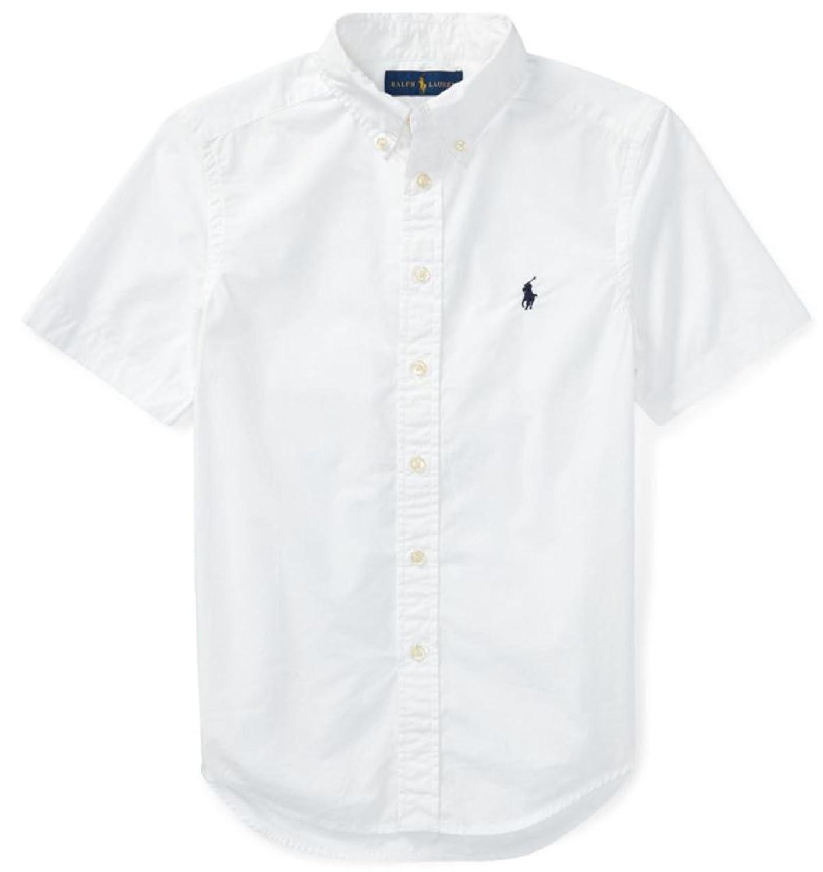 [POLO RALPH LAUREN (ポロラルフローレン)] 半袖コットン ポプリン スポーツシャツ ボーイズ 男の子 S-XL [並行輸入品]