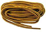 GREATLACES proBOOT(tm) Rugged Wear Heavy Duty Boot Laces Shoelaces - 2 Pair Pack (78 Inch 195 cm, Gold Yellow Brown)
