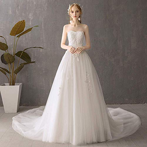 ztmyqp Vestido Vestido de Novia Light a Wedding Dress Sujetador Minimalista Vestido...