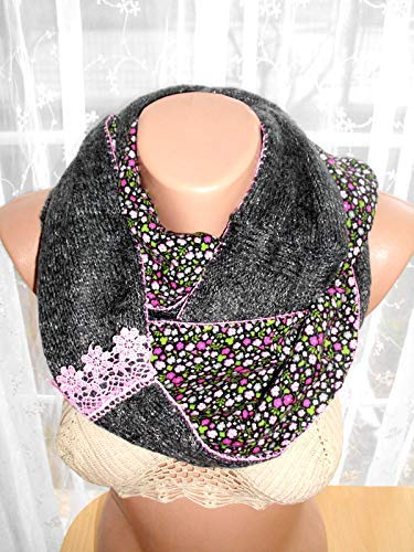 knit Max Denver Mall 50% OFF scarf loop multicolor handmade s lace