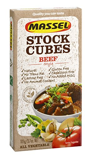 Massel, Stock Cubes - Gluten-Free, Beef Style Broth - 105g, Pack of 4