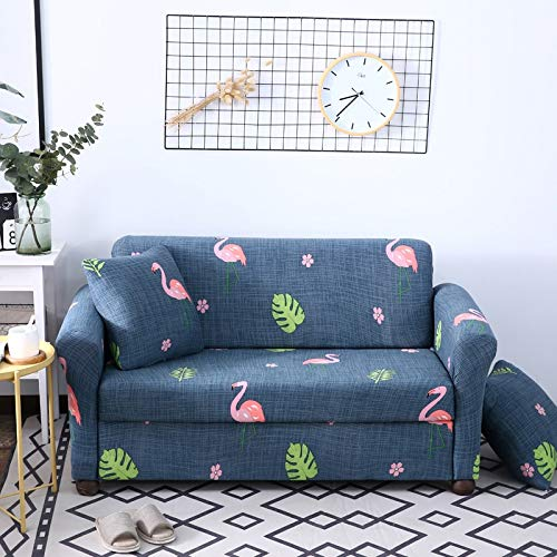 ASCV Housse de canapé à Motif Floral élastique Extensible Universel canapé Housse sectionnelle Jeter canapé Housse d'angle pour Meubles fauteuils A2 3 Places
