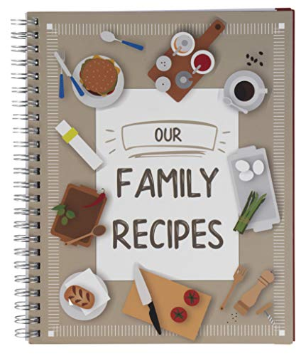 Pipilo Press - Libro de recetas en blanco «Our Family Recipes» (16,5 x 20,8 cm)