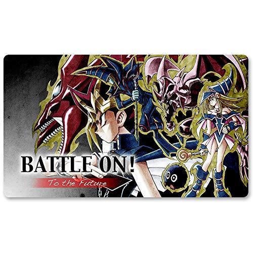 Battle On – Jeu de société Yu-Gi-Oh! Tapis de jeu de table 60 x 35 cm Tapis de souris MTG pour Yu-Gi-Oh! Pokémon Magic The Gathering