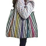 Ranoki エコバッグ 買い物袋 収納 簡単 折りたたみ 軽い ショッピングバッグ 大容量 (HBD-010)