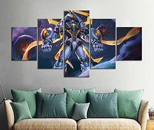 QQWER 5 Pieza Cuadro En Lienzo Impresión Enpóster del Juego Lienzo Picture Artworks Arte Pared Habitación Dormitorio Moderno Decorativo