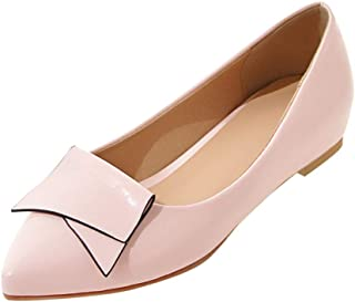 Women Pointed Toe Flats Sandals, Ladies Solid Fashion Buckle Slip on Sandals Single Shoes