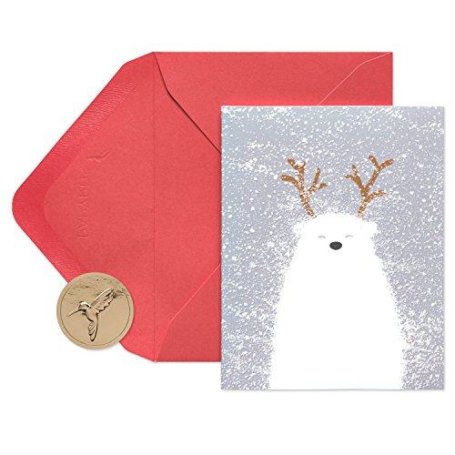 Papyrus Christmas Cards Boxed, Polar Bear (20-Count)