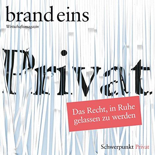 brand eins audio: Privat audiobook cover art
