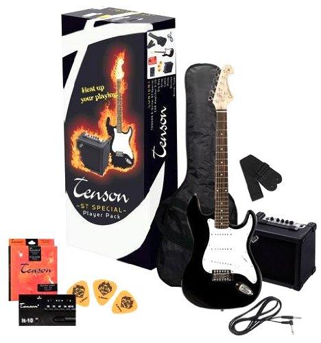 Tenson F502540 - Pack guitarra eléctrica RC-100, color negro