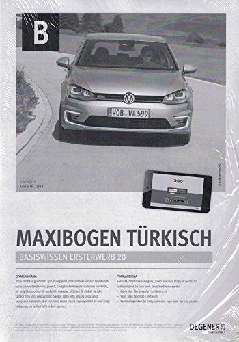 Papierbögen Führerschein Klasse B/BE - Auto - TÜRKISCH