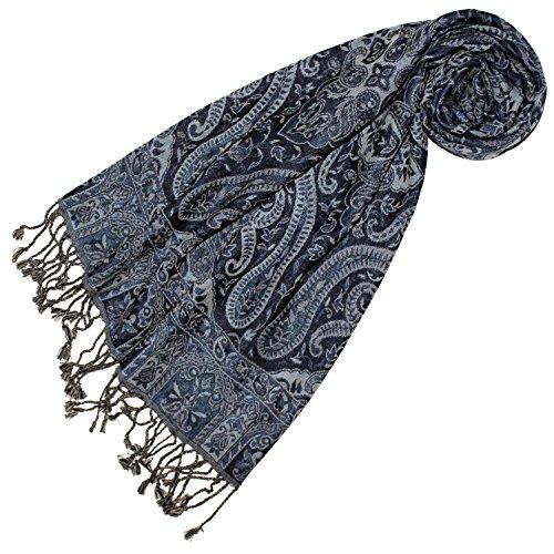 Lorenzo Cana Lorenzo Cana - Luxus Damen Schal aus weicher Wolle aufwändiges Paisley Muster bunt mehrfarbig 35 cm x 160 cm Wollschal Wolltuch Damenschal Damen 78400