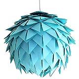 Baby Blue Harlekin, Ø 35cm, hell blaue Lampe Leuchte Lampenschirm Pendellampe Pendelleuchte...