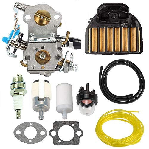 TOPEMAI WTA-29 Carburetor for Husqvarna 544883001 455E 455 Rancher 460 461 Gas Chainsaw with Air Filter Fuel Filter Spark Plug