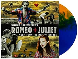 William Shakespeare\'s Romeo + Juliet (Music From The Motion Picture) - Exclusive Limited Edition Blue Orange Split Colored Vinyl LP (Only 2000 Copies Pressed Worldwide)