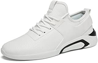 Happy-L Shoes, Men's Fashion with Lightweight Round Top Athletic Sneakers The British Casual Style is All in Low Top Running Shoes