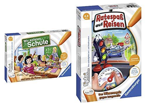 Ravensburger tiptoi Wir spielen Schule - 00733 / Erlebe interaktiv einen kompletten Schultag & 00525 - Tiptoi Spiel Ratespaß auf Reisen