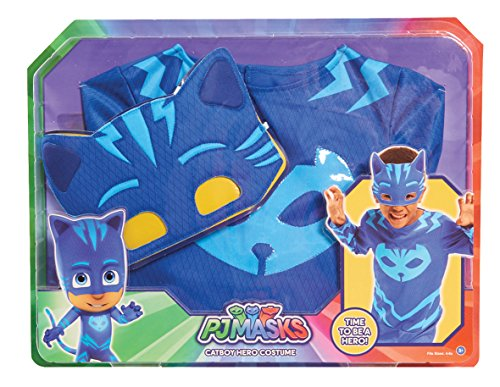PJ Masks Disfraces, color azul, 4-6 años (Bandai 24601)
