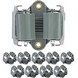 ONVAYA Gerätehalter Klemmfix | Wandhalter aus Federstahl 10er Set | Stielhalter | Schaufelhalter inkl. Arbeitshandschuhe